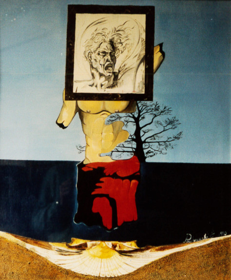 1990. LA DANNAZIONE DELLA QUIETE olio su tela 70*60 cm