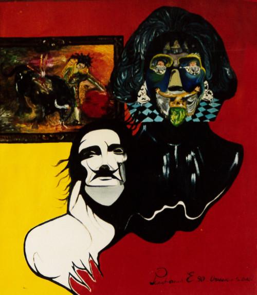 1990. OMAGGIO A SALVADOR DALI' olio su tela 70*60 cm