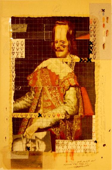 2011. IL MIO FILIPPO IV tecnica mista e collage su tela 70*50 cm