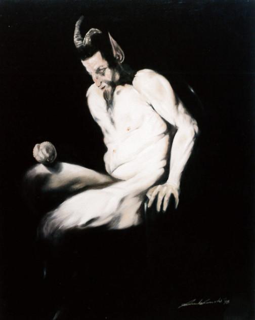 1998. SENZA TITOLO olio su tela 50*40 cm