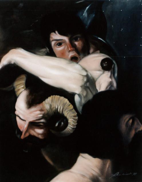 1998. SENZA TITOLO olio su tela 60*50 cm