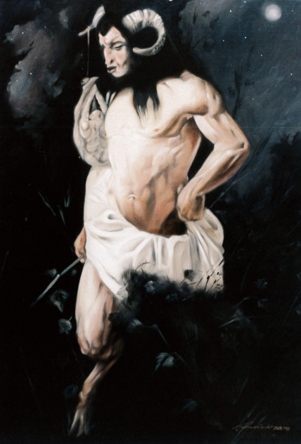 1998. SENZA TITOLO olio su tela 100*70 cm