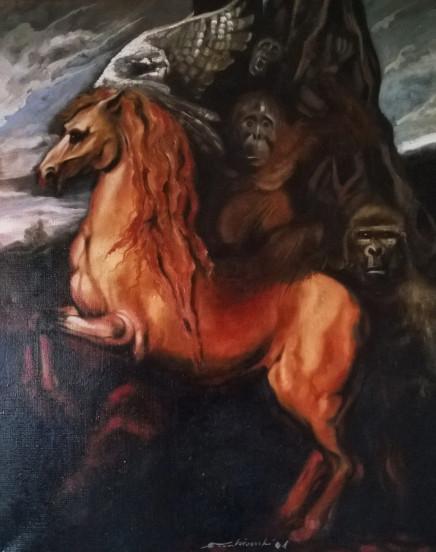 2001. SENZA TITOLO olio su tela 100*80 cm