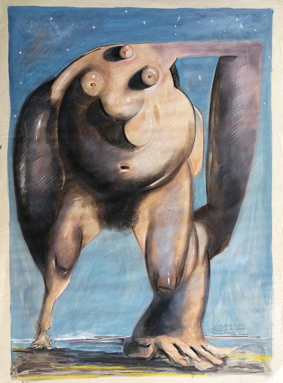 2004. MADRE NATURA matita su carta, 120*90 cm