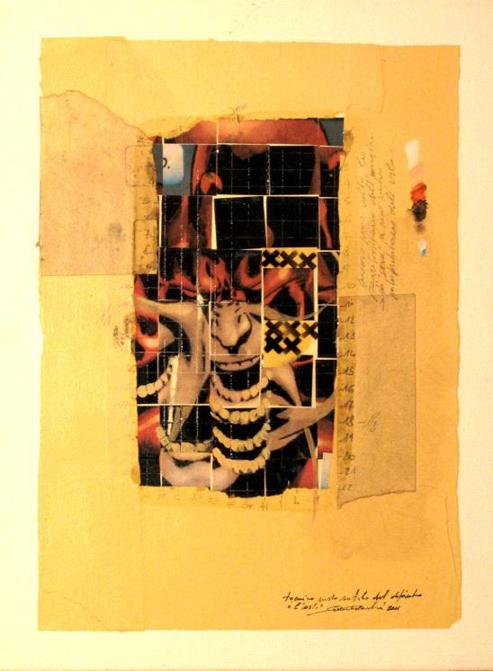 2012. L'URLO tecnica mista e collage su tela 30*20 cm