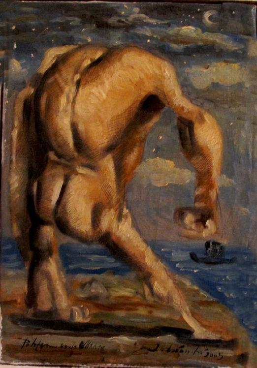 2005. POLIFEMO olio su tela 70*40 cm