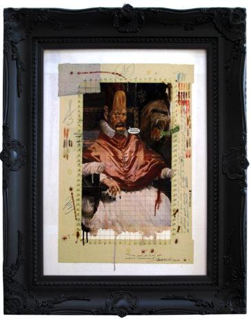 2013. COLPEVOLENZO X II° tecnica mista e collage su tela 80*45 cm