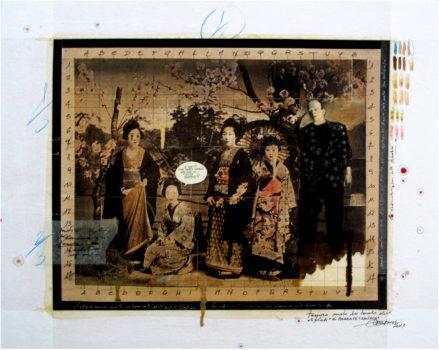 2013. IL PARENTE LONTANO tecnica mista e collage su tela 50*40 cm