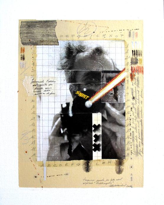 2013. MICHELANGELO tecnica mista e collage su tela 40*30 cm