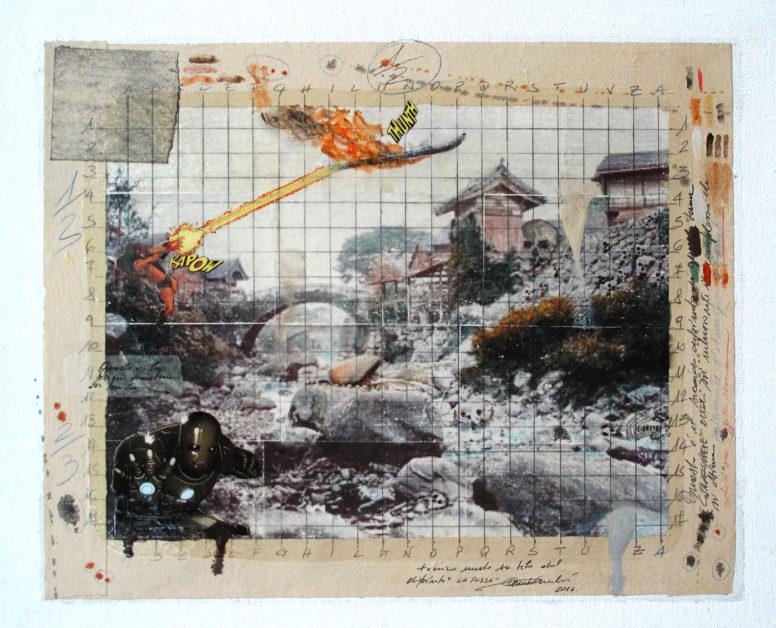 2013. LA FOSSA tecnica mista e collage su tela 40*48 cm
