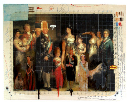 2013. PICCOLI MONARCHI CRESCONO tecnica mista e collage su tela 50*43 cm