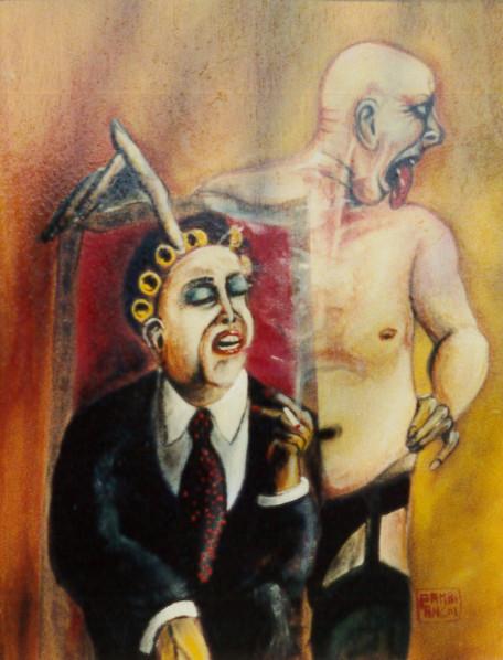 1995. SENZA TITOLO ALLUDO olio su tela 40*30 cm