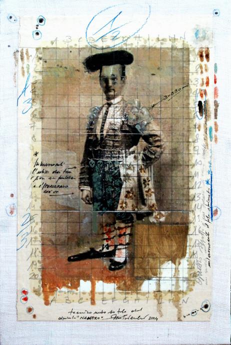2014. NANERO tecnica mista e collage su tela 30*20 cm