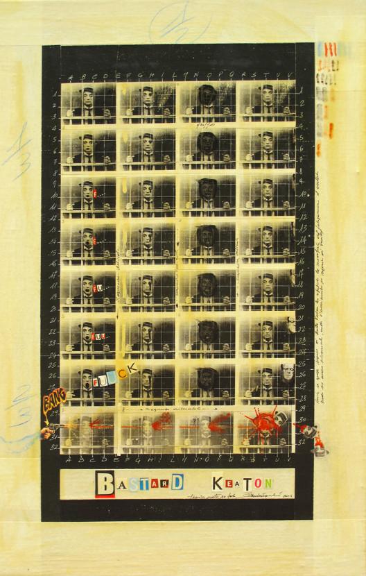 2015. BASTARD KEATON tecnica mista e collage su tela 50*30 cm
