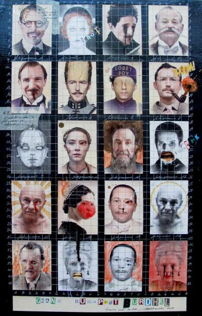 2015. GRAND BUDAPEST BURHEL I tecnica mista e collage su tela 70*50 cm