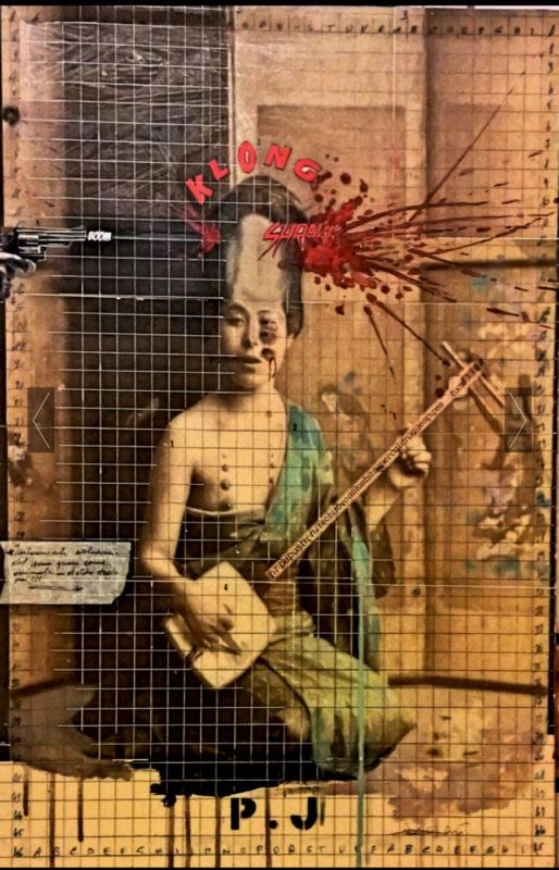 2016. P.J. tecnica mista e collage su tela 70*50 cm
