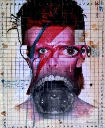 2017. ZIGGY tecnica mista e collage su tavola 50*40 cm