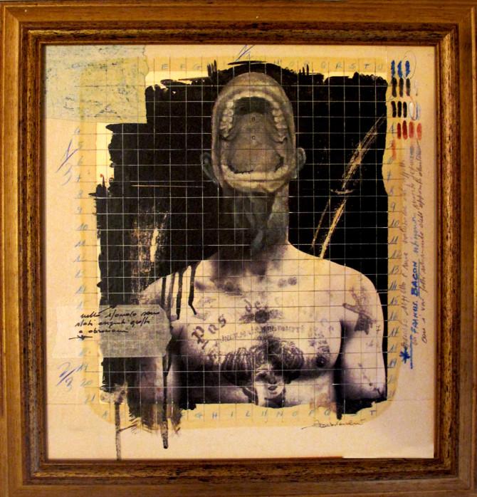 2015. SENZA TITOLO tecnica mista e collage su tavoletta 40*40 cm