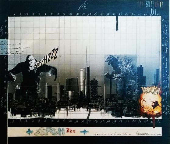 2015. SKFCH ZZZ tecnica mista e collage su tavoletta 40*50 cm