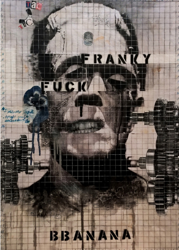 2016. BBANANA tecnica mista e collage su tela 70*50 cm