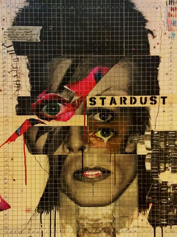 2016. STARDUST tecnica mista e collage su tavoletta 80*60 cm