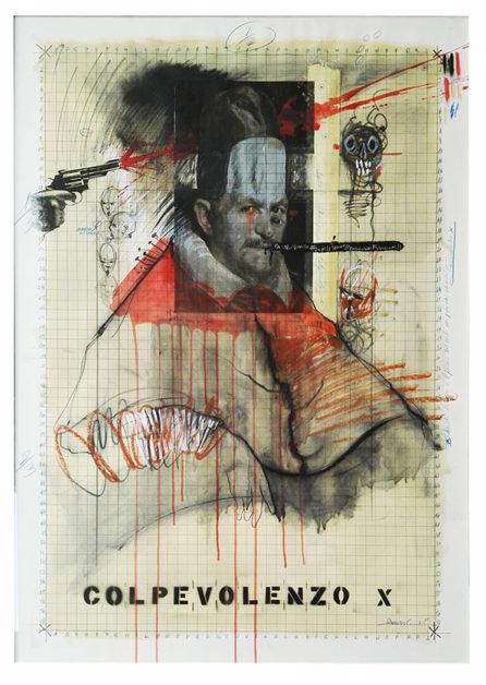 2017. COLPEVOLENZO X carboncino e sanguigna su carta, 80x110 cm