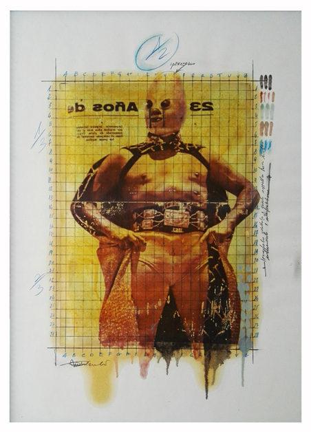 2017. SENZA TITOLO tecnica mista su carta, 50x70 cm