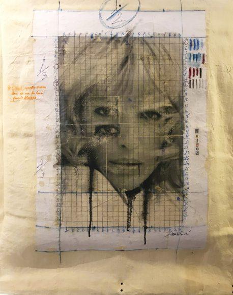dic 2017. MONICA, tecnica mista su tela, 72x94 cm, arazzo