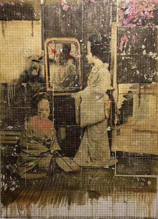 giu 2018. PULP JAPONESE, tecnica mista su tela, 135x180 cm, arazzo