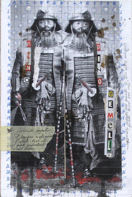 mar 2018. NINO E PINO, tecnica mista su tavoletta legno, 20x30 cm