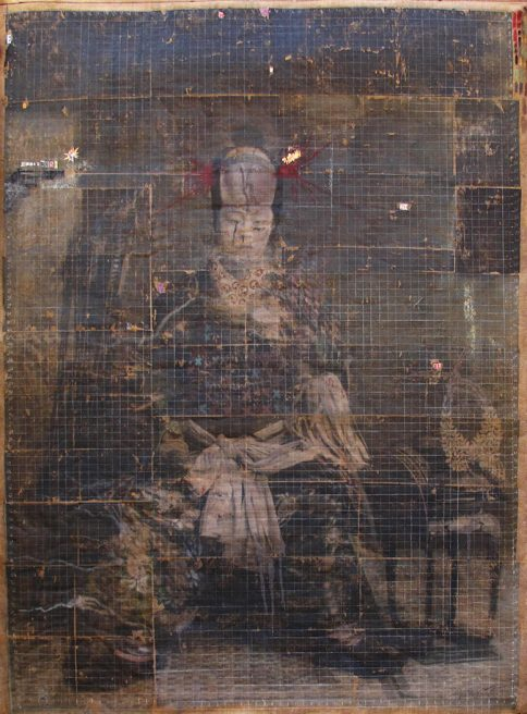 mar 2018. SAMURAI, tecnica mista su tela juta, 200x250 cm, arazzo