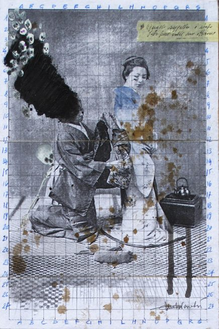mar 2018. SENZA TITOLO, tecnica mista su tavoletta legno, 20x30 cm