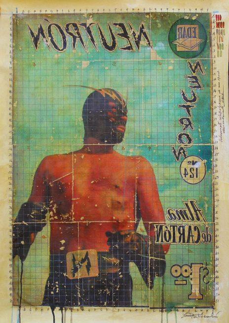 mar 2018. SENZA TITOLO, tecnica mista su tela, 80x113 cm, arazzo