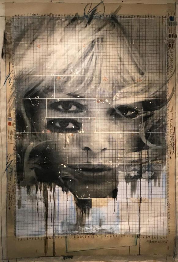 dic 2017. JE T'AIME, tecnica mista su tela, 150x210 cm, arazzo